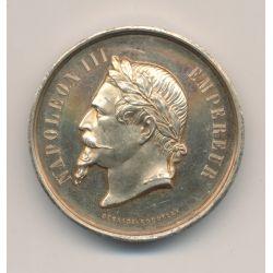 Médaille - Napoléon III - Comice agricole de Pontvallain - Député 1868 - vermeil