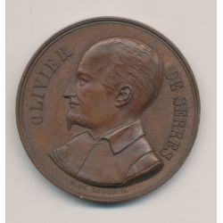 Médaille - Comice agricole de Vienne - Olivier de Serres - bronze - H de Longueil