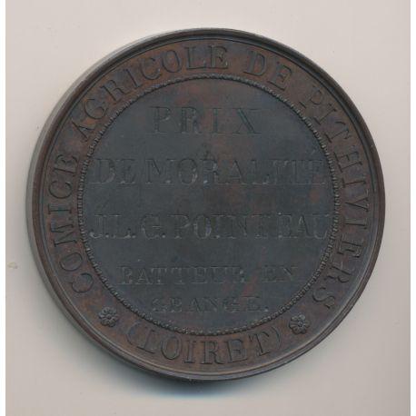 Médaille - Comice agricole de pithiviers - Prix de moralité 1837 - bronze