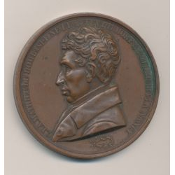 Médaille - Mathieu de Dombasle - 1843 - agriculture - bronze