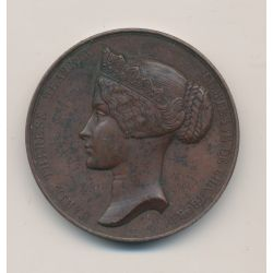 Médaille - Marie Thérèse Béatrix - Comtesse de chambord - cuivre