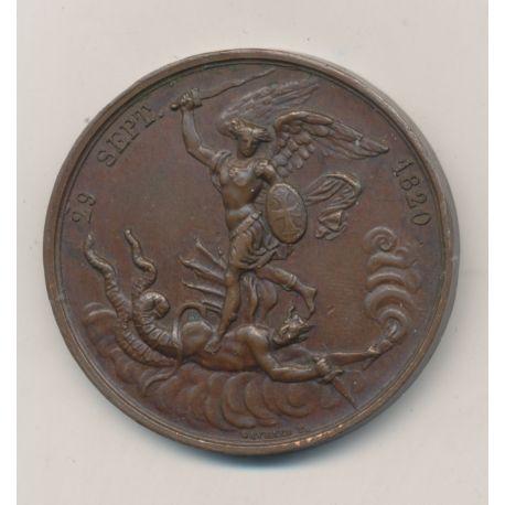 Médaille - Naissance du futur comte de Chambord - Henri V - 29 septembre 1820 - cuivre