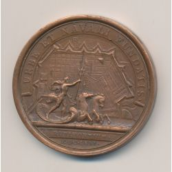 Médaille - Louis XIV - Port de Rochefort - refrappe - bronze