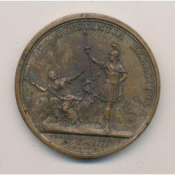 Médaille - Louis XIV - Prise de verrue ( Piémont ) - Bronze - Mauger