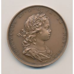 Médaille - Louis XV - 1716 - refrappe - bronze