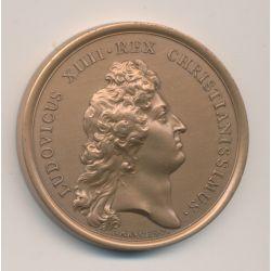 Médaille - Louis XIV - Navire de guerre 1670 - refrappe - bronze