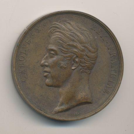 Médaille - Sacre à Reims - Charles X - 1825 - bronze