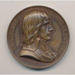 Médaille - Bonaparte général en chef - Napoléon en Égypte - 1798 - cuivre