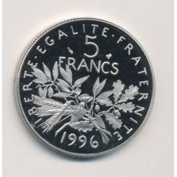 5 Francs Semeuse - 1996 - Belle épreuve - Tranche cannellée