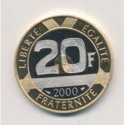 20 Francs Mont st michel - 2000 - Belle épreuve