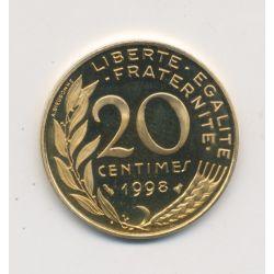 20 Centimes Marianne - 1998 - Belle épreuve