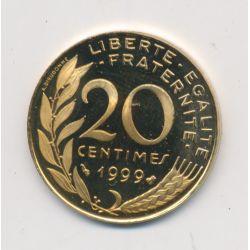 20 Centimes Marianne - 1999 - Belle épreuve