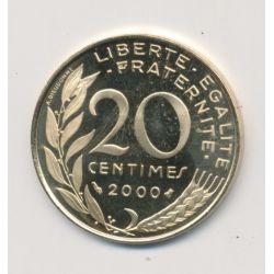 20 Centimes Marianne - 2000 - Belle épreuve