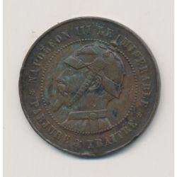 Monnaie satirique - Module 10 centimes - Napoléon III - le misérable - canon+éclairs