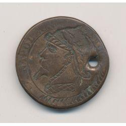 Monnaie satirique - 5 centimes - Napoléon III - casque à pointe