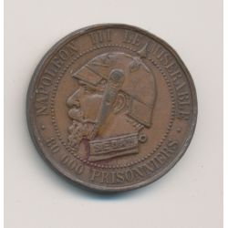 Monnaie satirique - Module 5 centimes - Napoléon III - Vampire Français
