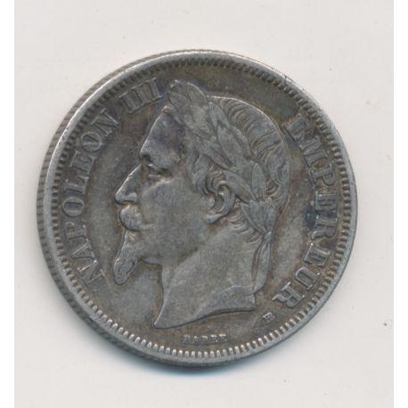 Napoléon III - Tête laurée - 2 Francs - 1869 BB Strasbourg