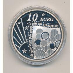 10 Euro 2011 - Semeuse - 10 ans du starter kit - argent