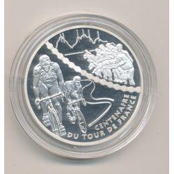 1 1/2 Euro - Étape de montagne - 2003 - Centenaire tour de france - argent BE