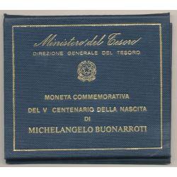 Italie - 500 Lire 1975 R - Michelangelo Buonarroti