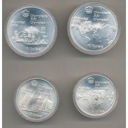 Canada - Coffret 4 Monnaies - Jeux Olympiques Montréal 1976 - argent