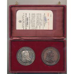 St Marin - Coffret 2 Médailles argent et bronze - Napoléon Bonaparte - 1769-1969
