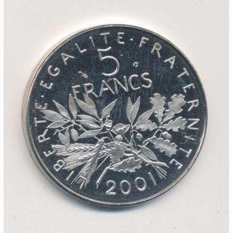 5 Francs Semeuse - 2001 - Belle épreuve