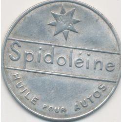 Timbre-monnaie - 10 Centimes rouge sur fond bleu - Spidoleine