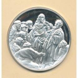 Médaille - L'incrédulité de Saint Thomas - Trésors de Rembrandt - argent