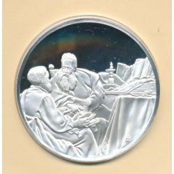 Médaille N°34 - Deux Philosophes en conversation - Trésors de Rembrandt - argent
