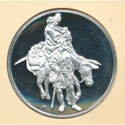 Médaille N°31 - La fuite en Égypte - Trésors de Rembrandt - argent