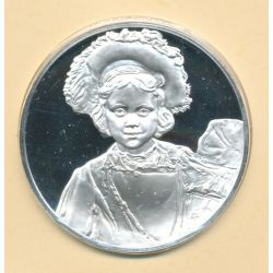 Médaille N°29 - Jeune homme en costume de fantaisie - Trésors de Rembrandt - argent