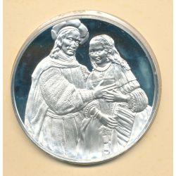 Trésors de Rembrandt - Médaille N°45 - Portrait d'un couple - argent