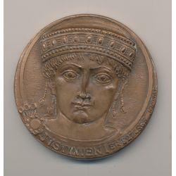 Médaille - Justinien 1er - Notariat Français - bronze