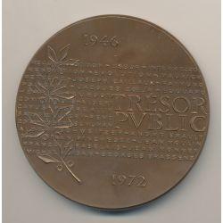 Médaille - École nationale des services du trésor - 1973 - bronze