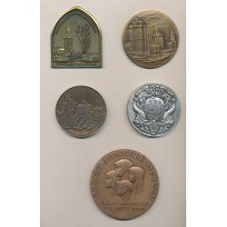 Lot 5 Médailles - Ville La Rochelle - Thèmes divers