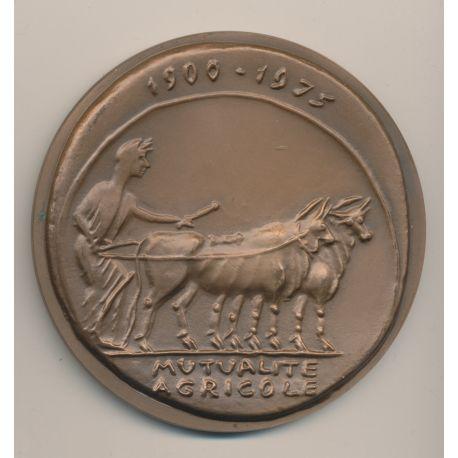 Médaille - 75 ans mutualité Agricole - bronze