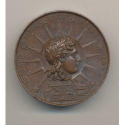 Médaille - Société libre des beaux arts - Paris 1830 - cuivre