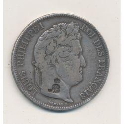5 Francs Louis Philippe - 1833 A Paris - avec contremarque