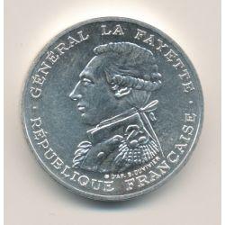 Piéfort - 100 Francs - La Fayette - 1987 - brillant universel