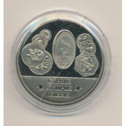 Médaille - Chypre - Membre Union Européenne - maillechort