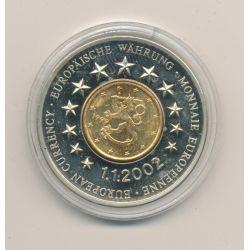 Médaille - 1 Cent Finlande - 1.01.2002 - maillechort