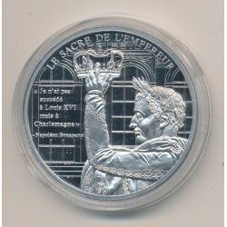 Médaille - Sacre de l'empereur - La vie de napoléon Bonaparte