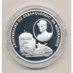 Médaille - Général Leclerc et la 2e DB - Débarquement en normandie - argent