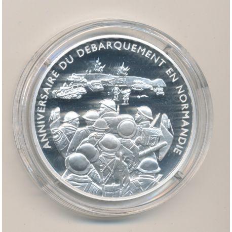 Médaille - Débarquement troupes sur la plage de Sword Beach - Débarquement en normandie - argent