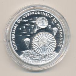 Médaille - L'atterissage des parachutistes -Débarquement en normandie - argent