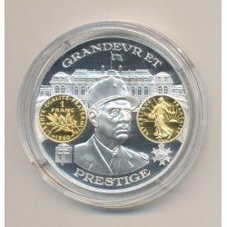 Médaille  - De Gaulle - 1 Franc 1960 - 2000 ans d'histoire monétaire Français