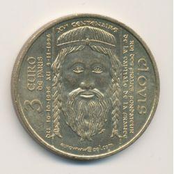 3 Euro - 1996 - Paris - Clovis - Jean Paul II