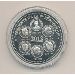 Médaille - Présidents de la 5e république - 2012