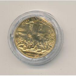Médaille - Prise de la bastille - bronze - 1980 - 21mm